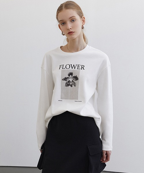 【Fano Studios】【2021SS 先行予約】Flower photo print long T-shirt FC21S025