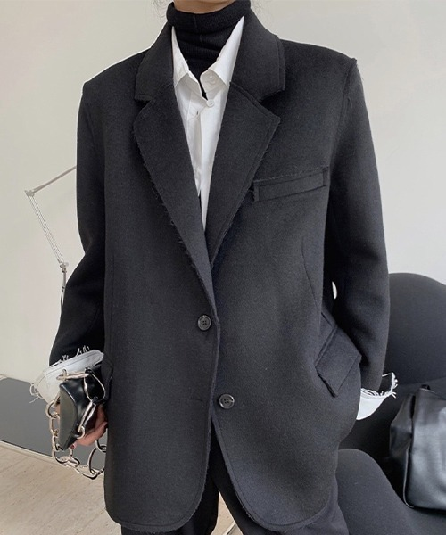 【chuclla】【2021/AW】Cutout woolen jacket chw21a059