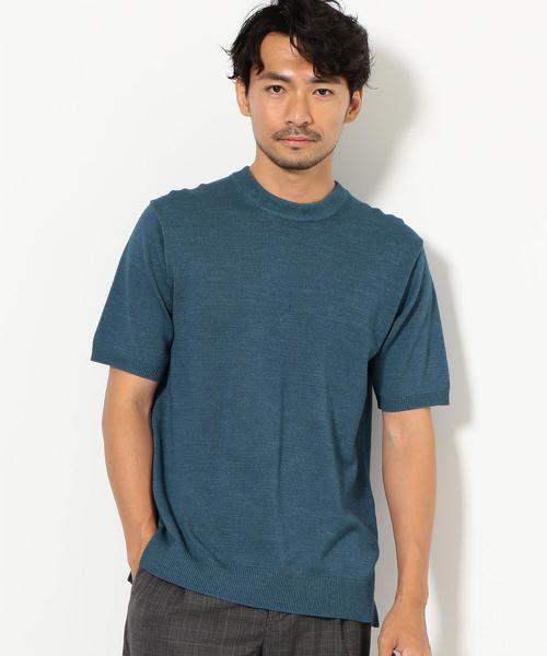 SC インディゴライク ニットTシャツ / サマーニット