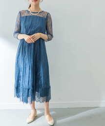 URBAN RESEARCH(アーバンリサーチ)の【一部WEB限定カラー】LA MAISON 総レースロングワンピース(ドレス)