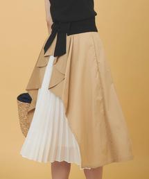 31 Sons de mode(トランテアン ソン ドゥ モード)のバッグプリーツデザインスカート(スカート)