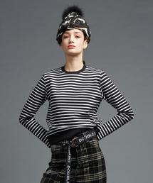DOUBLE STANDARD CLOTHING(ダブルスタンダードクロージング)のDSC. オリジナルニットフリースボーダートップス(ニット/セーター)