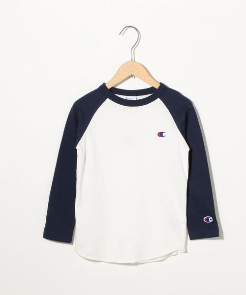 【WEB限定】Champion(チャンピオン)ワンポイントラグランTシャツ