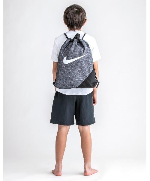NIKE(ナイキ)の「NIKE/ナイキ/Swim bag/ドローストリングプールバッグ ナップザック水着入れバッグ(スイムグッズ)」|グレー