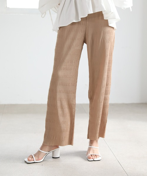 【chuclla】【2021/SS】Washer pleats easy pants sb-4 chw1426