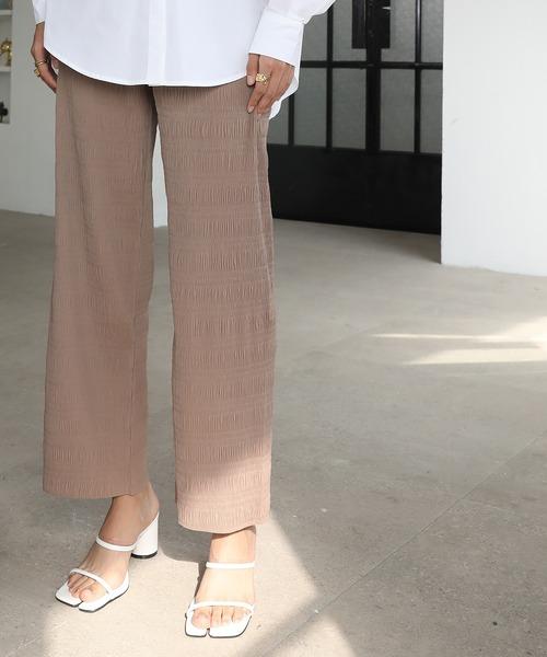 【chuclla】【2021/SS】Washer pleats easy pants chw1426