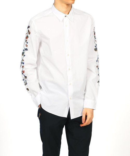 FIOWER EMBROIDERY SHIRT / 193307 006LNW