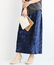 Spick & Span(スピックアンドスパン)のベルベットプリーツタイトスカート◆(スカート)