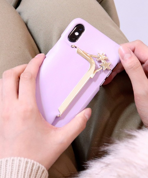 【Hashibami/ハシバミ】iPhone X/XS スマホ・携帯カバー リング付きケース
