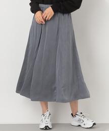 LEPSIM(レプシィム)のサテンAラインフレアスカート 855710(スカート)