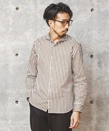 MEN'S MELROSE(メンズメルローズ)の[WEB限定]ストライプパターンカッタウェイシャツ(シャツ/ブラウス)