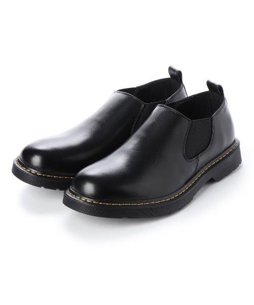 AAA+(サンエープラス)の「オリジナルクリアソールローカットサイドゴアブーツ(ブーツ)」|ブラック