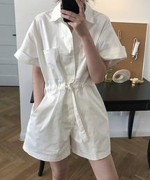 【chuclla】【2021/SS】Cotton shirt combination sb-5 chw1427ホワイト