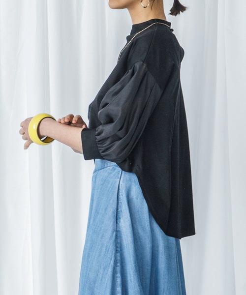 Emma Taylor(エマテイラー)の「ボトルネックシアーボリュームスリーブトップス(ボリュームスリーブ カットソー)(Tシャツ/カットソー)」|詳細画像