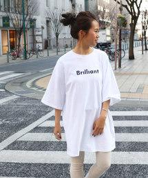 """via j(ヴィアジェイ)のvia j(ヴィアジェイ) """"Brilliant""""Tシャツワンピース(Tシャツ/カットソー)"""