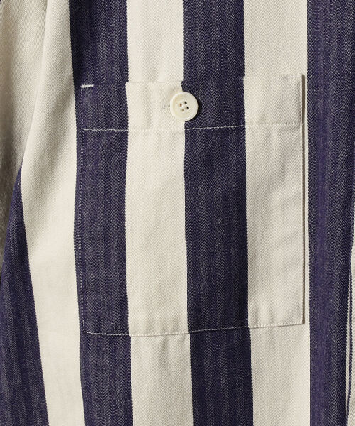 WAX LONDON / ボールドストライプ ワークシャツジャケット