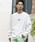London Denim(ロンドンデニム)の「空紡糸コットン / オーバーサイズ ロングスリーブT バックプリント(Tシャツ/カットソー)」|ホワイト