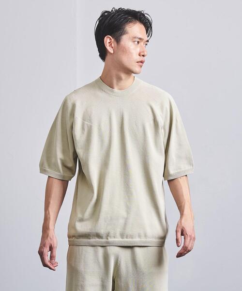 <AURALEE(オーラリー)>×<New Balance(ニューバランス)> WHOLEGARMENT Knit crew short sleeve■■■