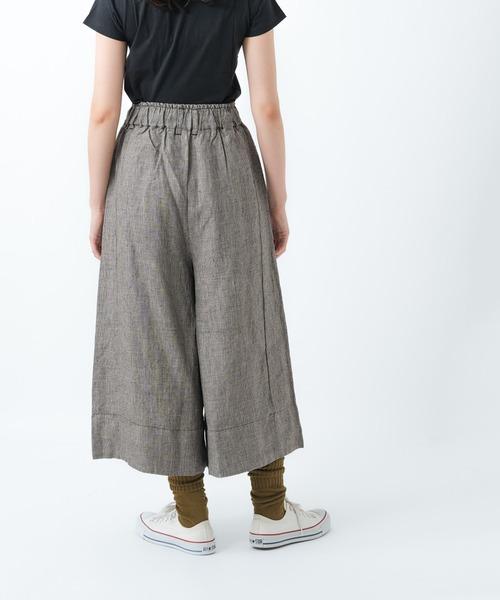 【ubasoku/ウバソク】裏付タックワイドパンツ スカーチョ ub-0022-B BNT