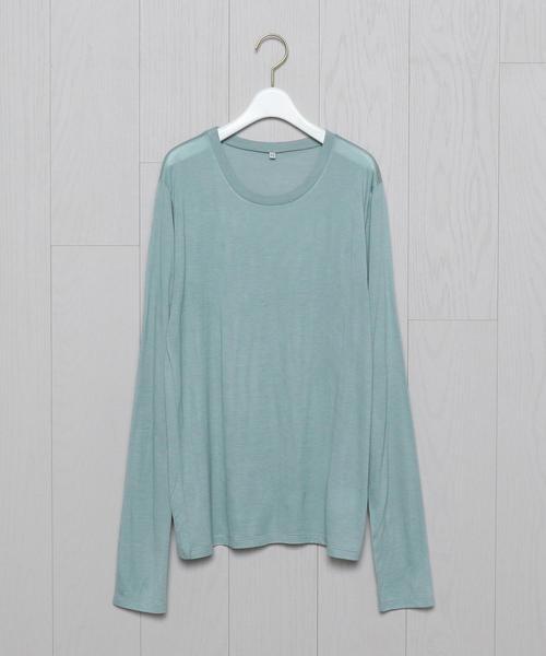 <BASERANGE>BAMBOO JERSEY LONG SLEEVE T-SHIRT/Tシャツ