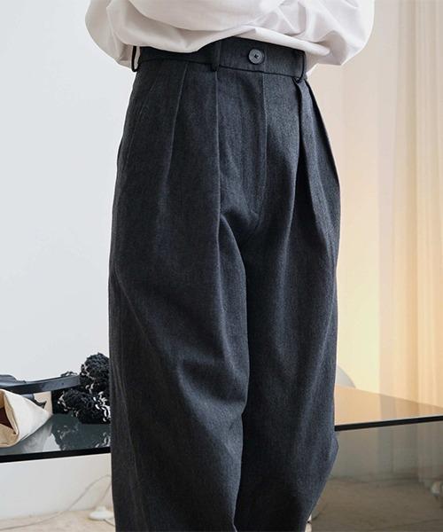 【chuclla】【2021AW】Waist tuck loose pants chw21a061