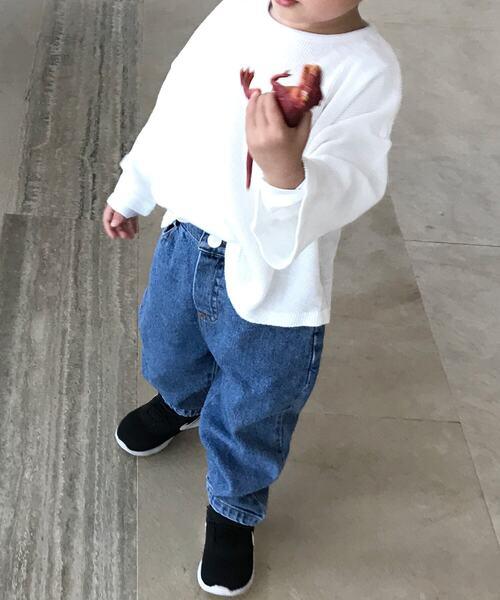 【isookbaby】ドロップショルダーサーマルトップス