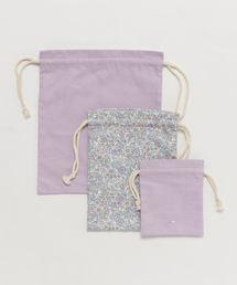 petit main(プティマイン)の巾着3枚セット(エコバッグ/サブバッグ)