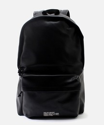 FAUX LEATHER MESSAGE BACKPACK/フォウレザーメッセージバックパック(ショルダーバッグ)