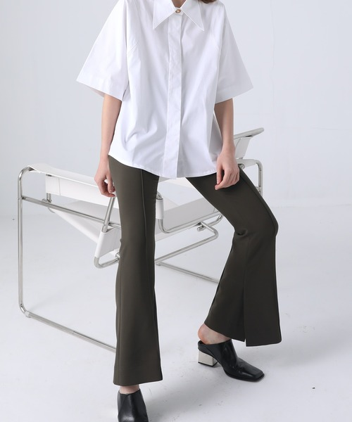 【chuclla】【2021/SS】Flare slit pants chw1429