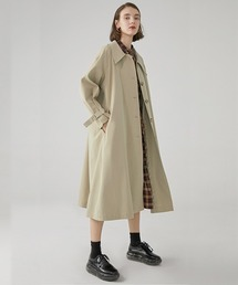 【Fano Studios】【2021SS】Drop neck Bal collar coat cb-3 FC19WN061ベージュ