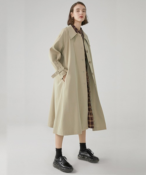 【Fano Studios】【2021SS 先行予約】Drop neck Bal collar coat FC19WN061