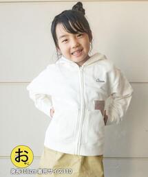 【coen キッズ/ジュニア】コーエンロゴ刺繍ジップパーカー