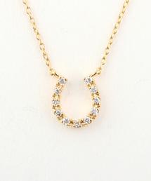 ete bijoux(エテビジュー)のK18YG ダイヤモンド ネックレス「ホースシュー」(ネックレス)