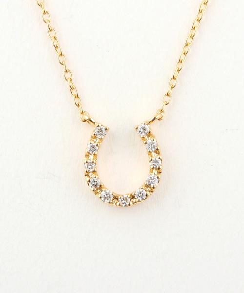 【着後レビューで 送料無料】 K18YG ダイヤモンド ダイヤモンド ネックレス「ホースシュー」(ネックレス)|ete bijoux(エテビジュー)のファッション通販, CARPARTS Web Store:f443d0f8 --- blog.buypower.ng