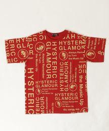 CIRCLE HEAD総柄 Tシャツ【L】レッド