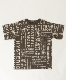 CIRCLE HEAD総柄 Tシャツ【L】チャコール