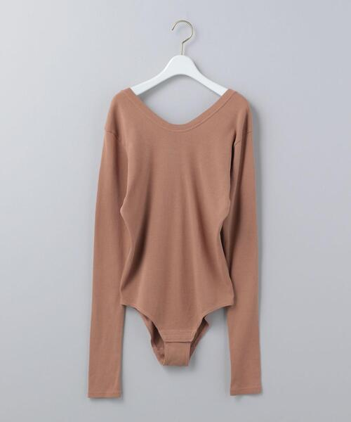 <6(ROKU)>BACK BUTTON BODY SUIT/カットソー