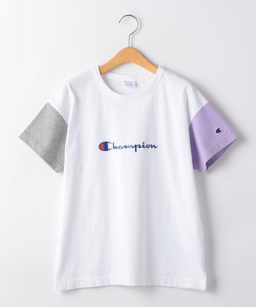 【ジュニア】〔別注〕CHAMPION(チャンピオン)クレイジーパターンTシャツ