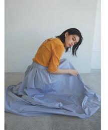 【EMMEL REFINES】【手洗可能】EM HW メモリー ボリューム フレアスカート