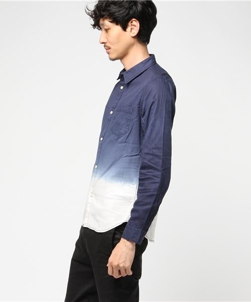 グラデーション染めシャツ