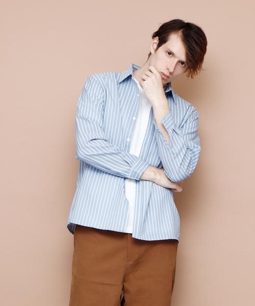 ストライプビッグシルエットシャツ(Stripe Big shirt)