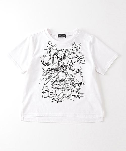 c038f9217fe70 COMME CA ISM(コムサイズム)のグラフィカルプリント Tシャツ(Tシャツ カットソー
