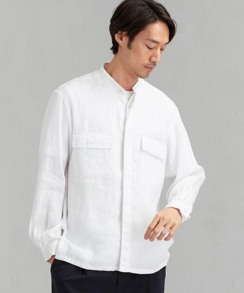 SC IND HEMP ミリタリーバンドシャツ