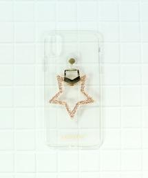 【 Hashibami / ハシバミ 】 # salle de bal別注 iPhone X/XS スマホ・携帯カバー リング付きケースゴールド