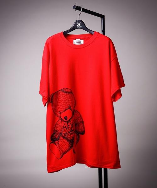 AFYF(エーエフワイエフ)の「【プチプライス】【ビッグシルエット】AFYF GILDAN BODYRAINBOW BEAR T SHIRT/ギルダン ボディ レインボーベアTシャツ(Tシャツ/カットソー)」|レッド