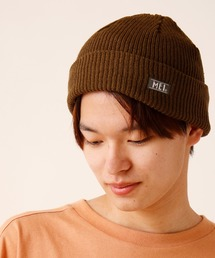MEI(メイ)の【MEI】ワンポイントロゴ ショートニットキャップ(ニットキャップ/ビーニー)