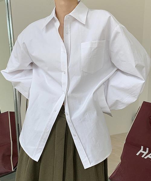 【chuclla】【2021/SS】Side slit big silhouette shirt chw1431