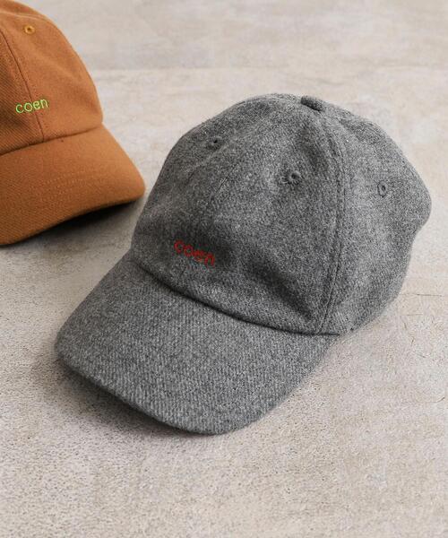【coen キッズ】コーエンロゴ刺繍起毛キャップ