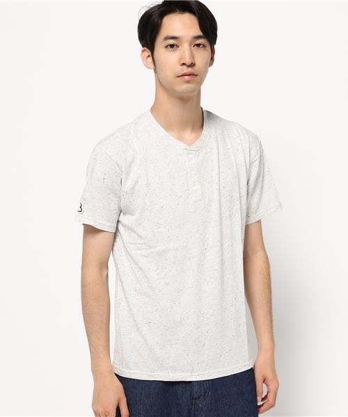 【Branch works】杢ネップヘンリーネック半袖Tシャツ
