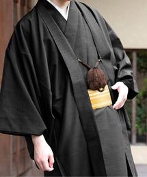 KYOETSU(キョウエツ)の「KYOETSU/キョウエツ」着物セット 洗える 紬生地 袷 和服 アンサンブル6点セット(袷着物、羽織、襦袢、角帯、羽織紐、腰紐)(着物)